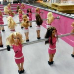 barbie foosball table game fathers day 2010