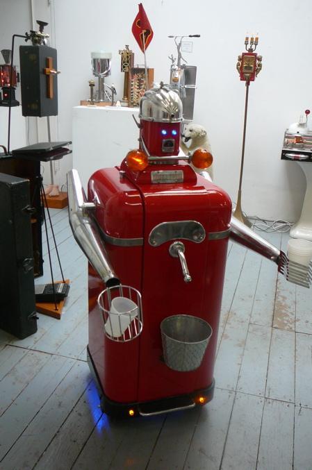 r2d2 heineken beer robot sculpture image