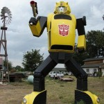 bumblebee transformer replica sculpture image