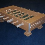 cardboard foosball table game fathers day 2010