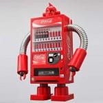 coca cola robot vending machine image