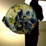 earth globe backpack geek theme