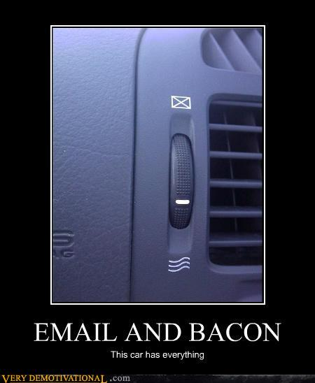 email and bacon car