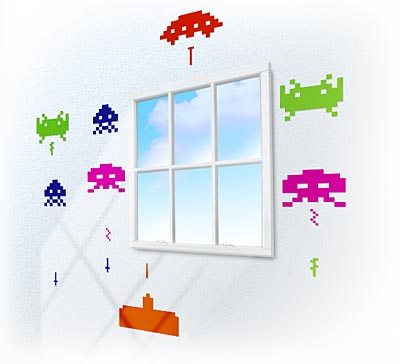 invader wall stickers