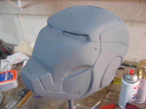 Hand Made Iron Mam Helmet Defines Geeky Art!