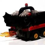 lego batmobile boxcar art