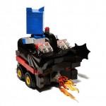 lego boxcar batmobile art