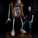 little big man kinetic robot sculpture