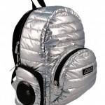 music stereo puff backpack geek theme