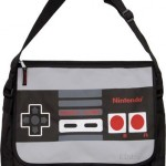 nes controller messenger bag geek theme