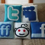 social media icons pillow designs image