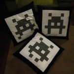 space invaders pillows design