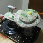 starship enterprise gingerbread cake design image
