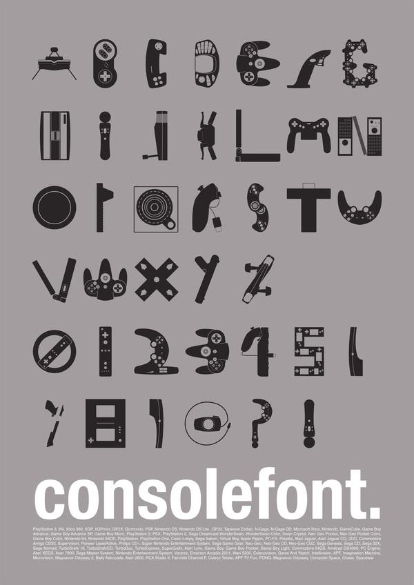video game console font