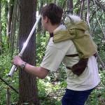 yoda backpack geek theme