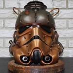 Artistic Steampunk stromtrooper helmet