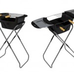 Foldable Barbecue Grill with Stand