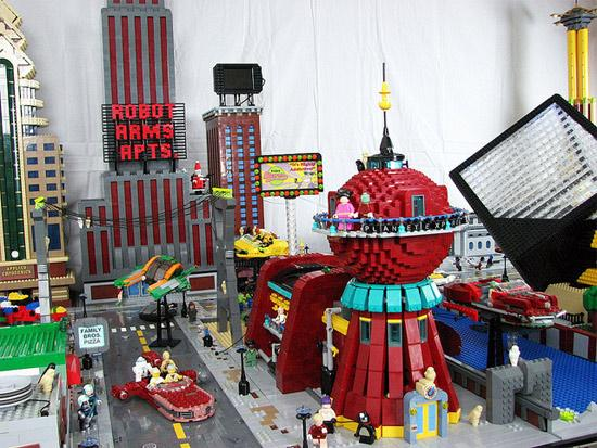 Futurama's New York Lego City A Lego Masterpiece!