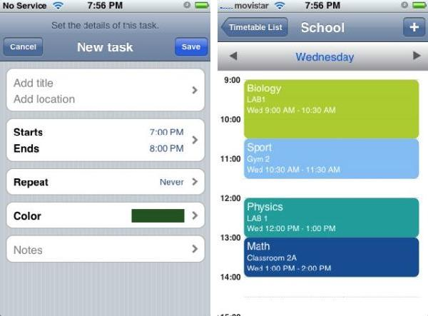 My Schedule Lite iPhone app