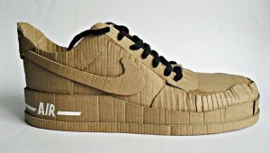 Nike air made up of cardboard (1)