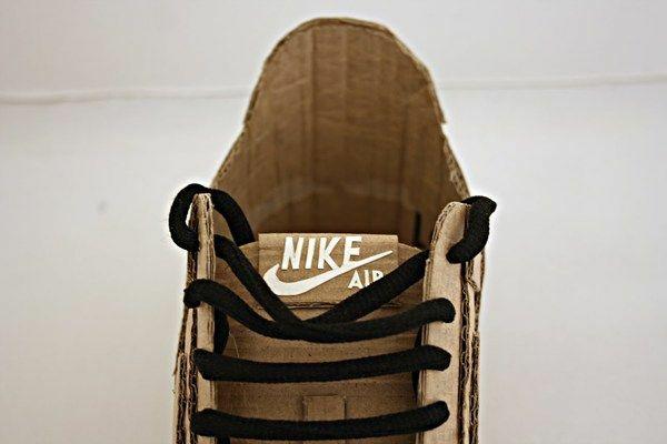 Nike air made up of cardboard (1)