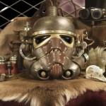 Red Dog Steampunk Helmet