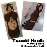 Tanooki suit hoodie