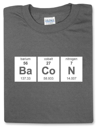 The Periodic BaCoN T-shirt