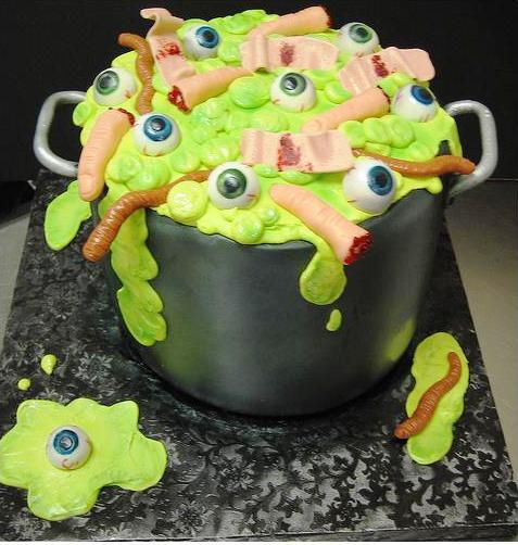 Surprising Pot O Gross Stuff Cake Severed Fingers Eyeballs Worms And Band Personalised Birthday Cards Arneslily Jamesorg