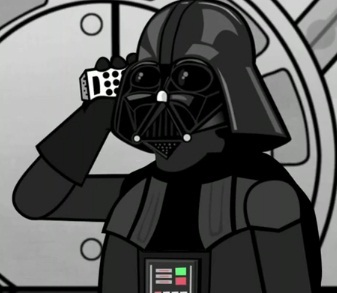 darth vader iphone 4 parody image