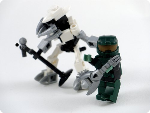 how to make halo characters out of lego walyou