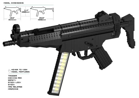 metal gear solid gun from lego weapons