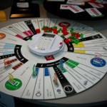 monopoly board game 75 anniversary round table