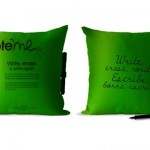 note me pillow green