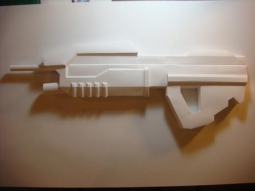 hellboy good samaritan papercraft weapon