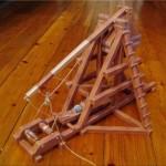 trebuchet papercraft model weapon