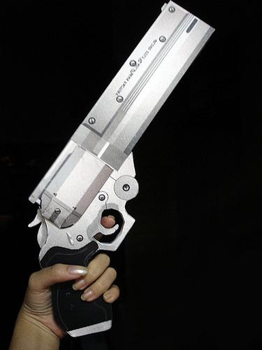 hellboy good samaritan papercraft weapon