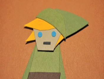 zelda papercraft stop motion image