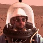 Man wearing the Helmet