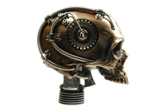 Biomech Bronze Skull2