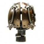 Biomech Bronze Skull3