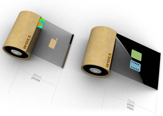 Rollphone Cell Phone Concept Brings A revolution In The Cell Phone Industry (2)