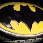 batman logo cake