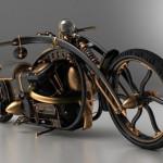 black widow steampunk chopper mod design 1
