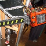 chainsaw design latex and rubber image