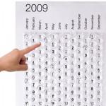 creative calendar design bubble wrap image