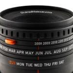 creative calendar design camera lens image