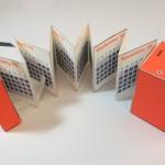 creative calendar design fold out accordion image 2