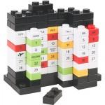 creative calendar design lego bricks image 1