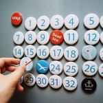 creative calendar design refrigerator magnets image 1